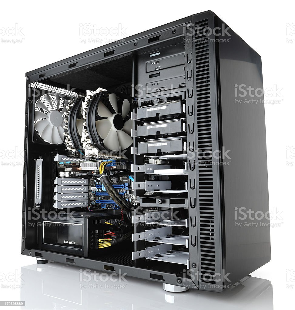 Desktop computer stock photo