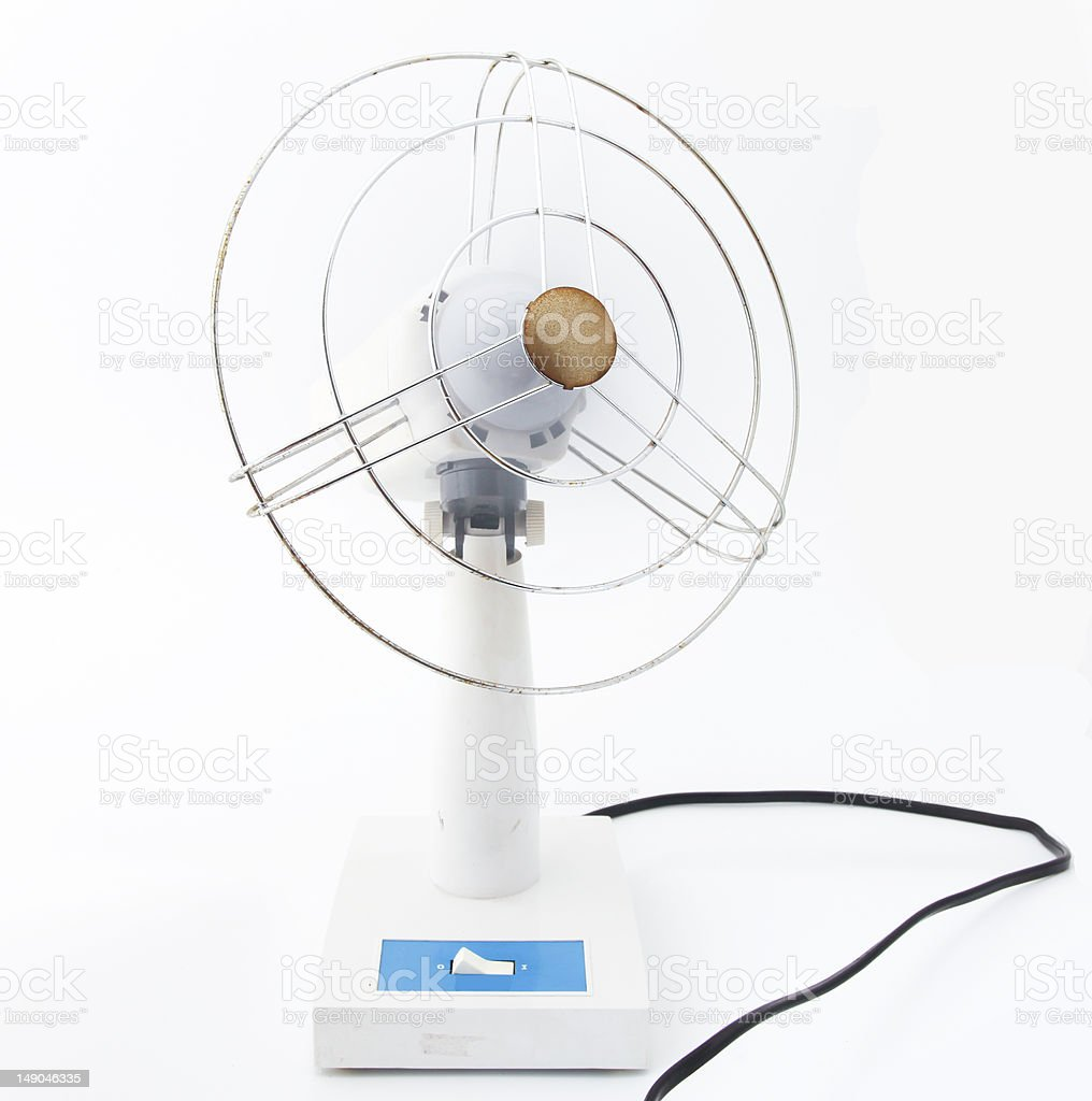 Desktop electric fan royalty-free stock photo