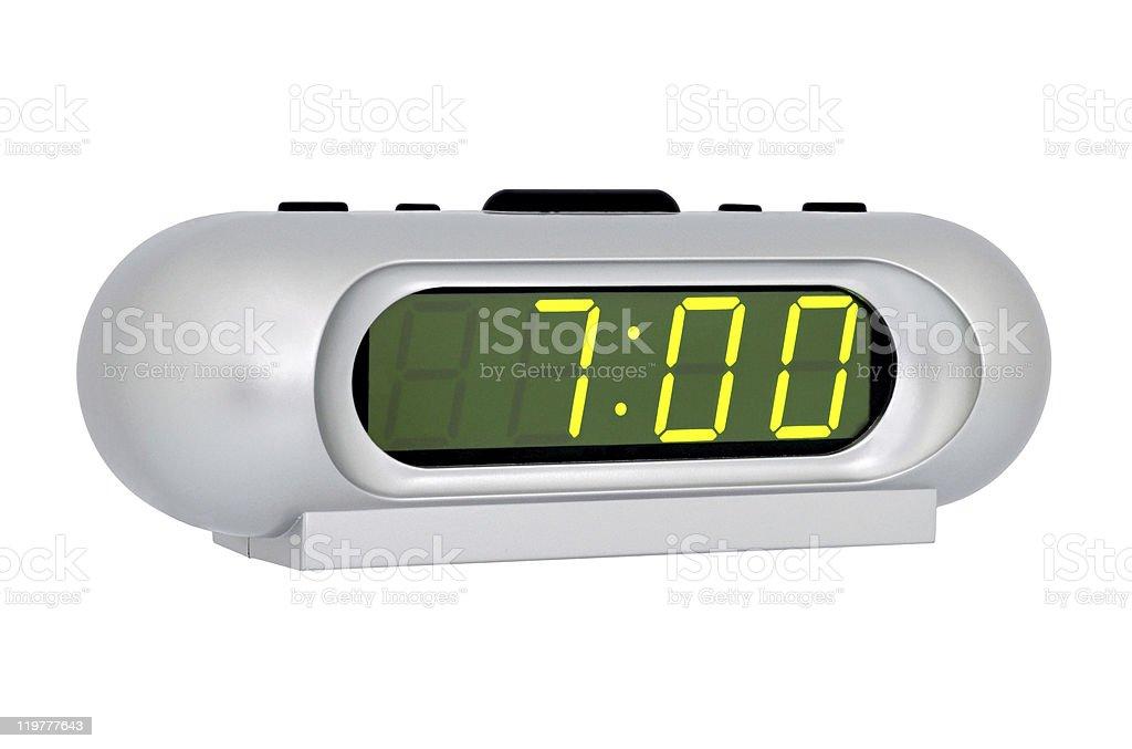 Desktop electronic clock stock photo