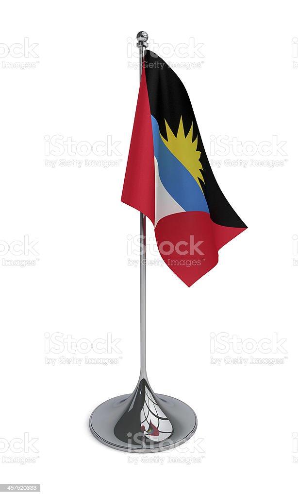 Desktop flag of Antigua and Barbuda stock photo