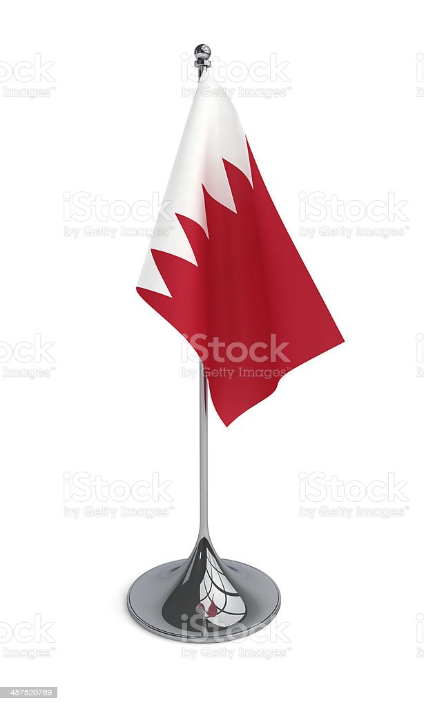 Desktop flag of Bahrain stock photo