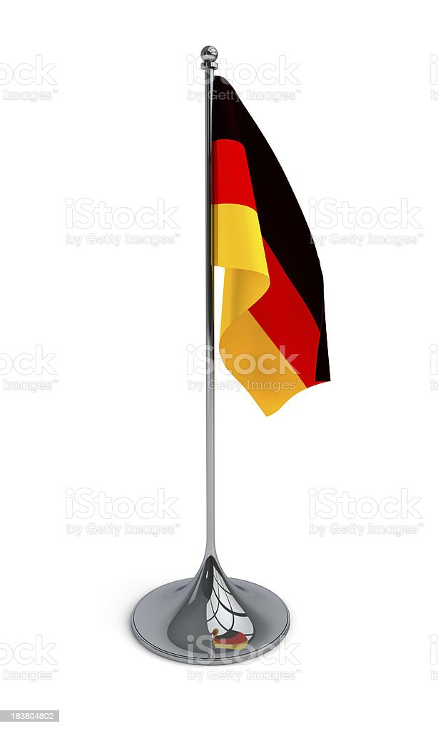 Desktop flag of Germany stock photo