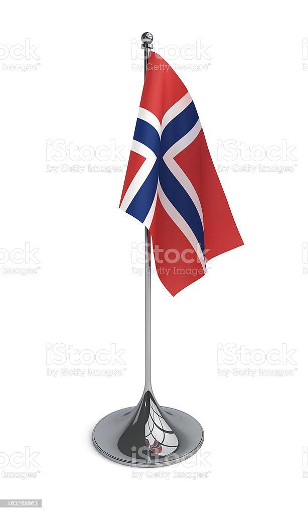 Desktop Flag of Norway stock photo
