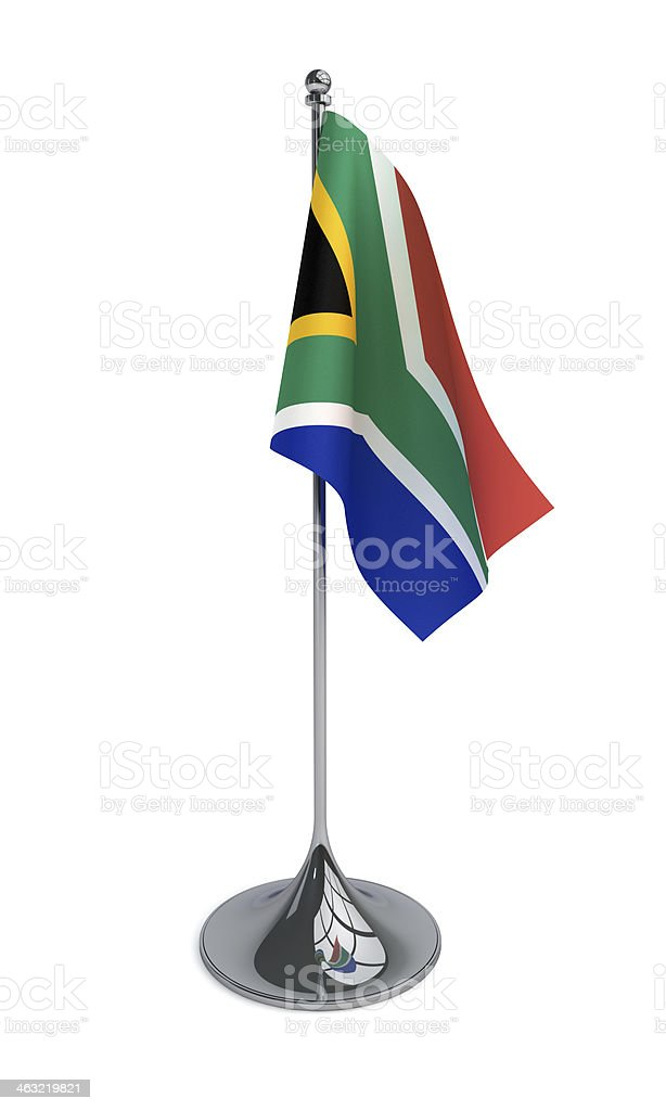 Desktop Flag of South Africa stock photo