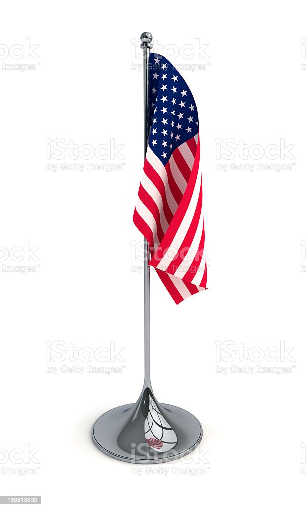 A desktop flag of the United States of America stock photo