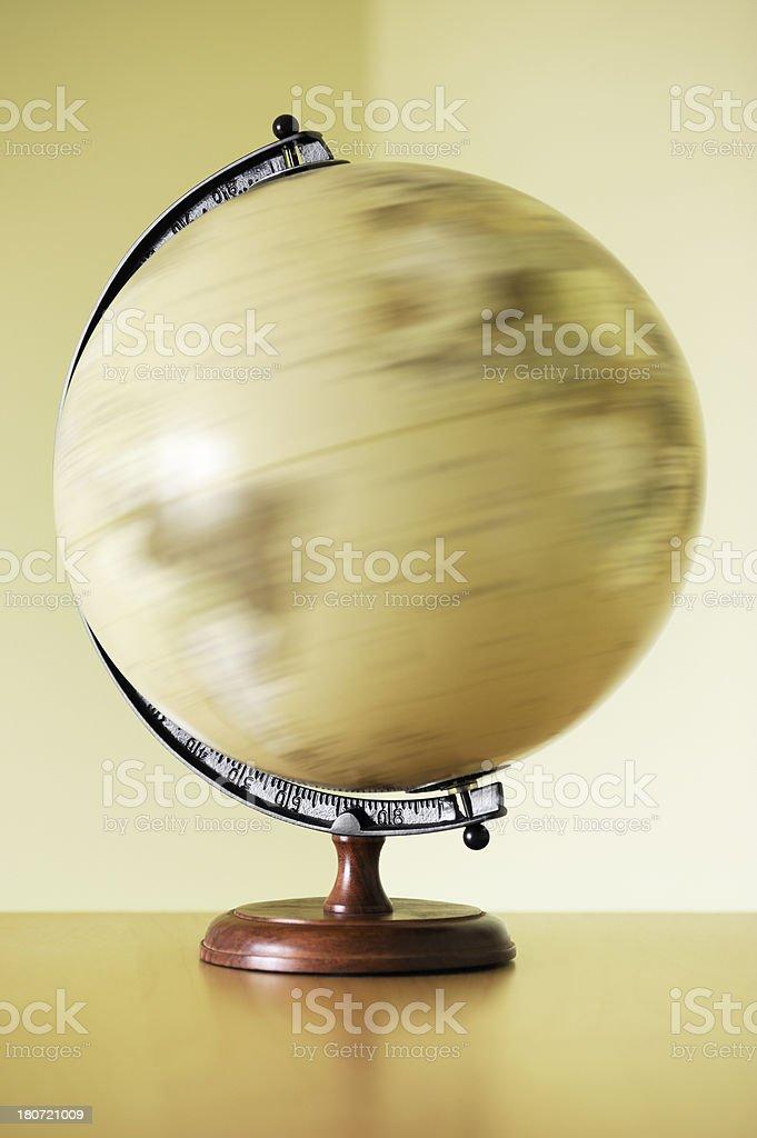 Desktop globe stock photo