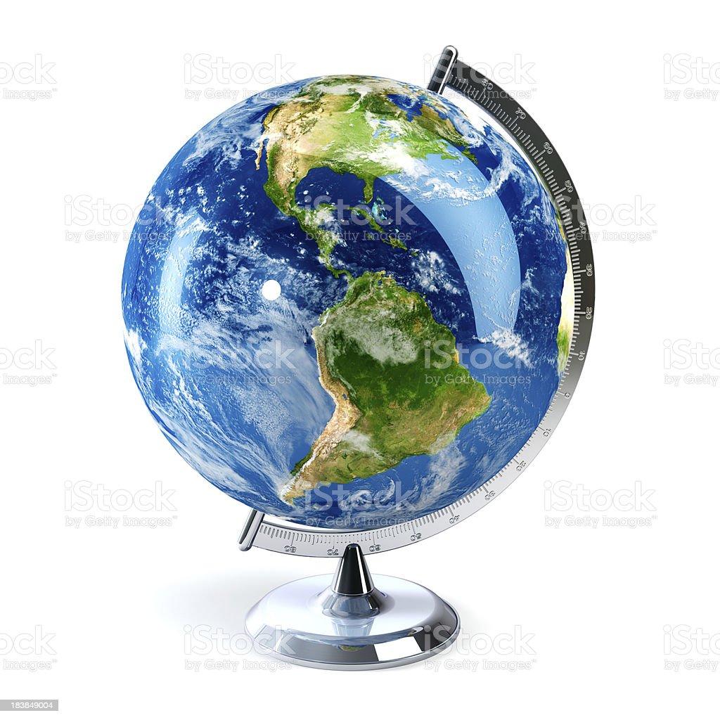 Desktop globe showing the Americas stock photo
