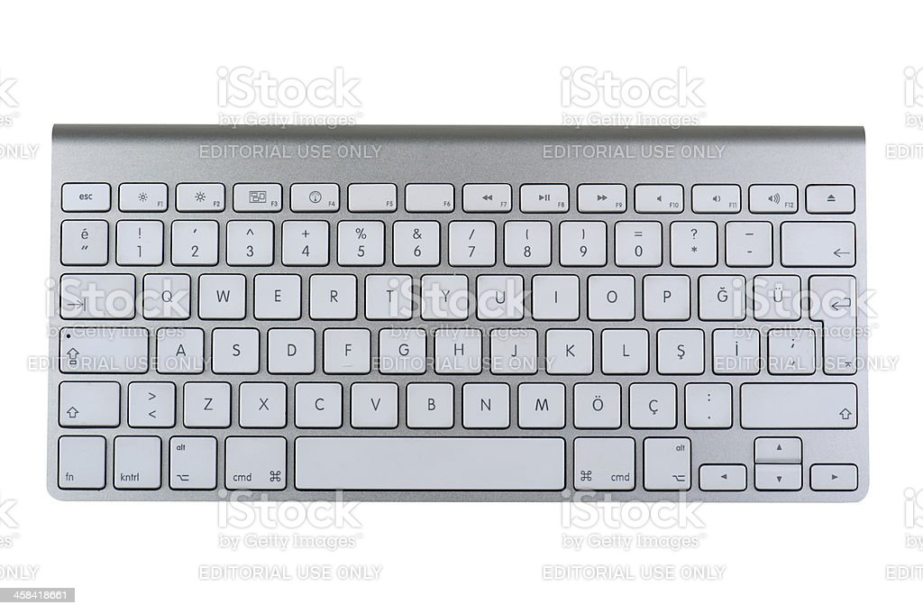 Desktop keyboard stock photo
