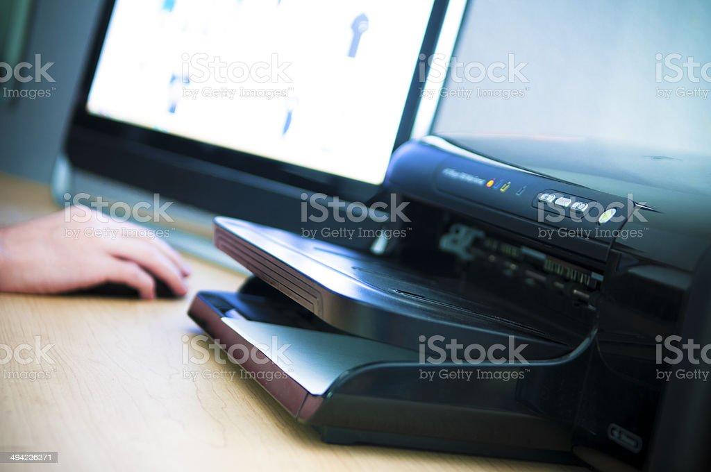 Desktop Printer stock photo