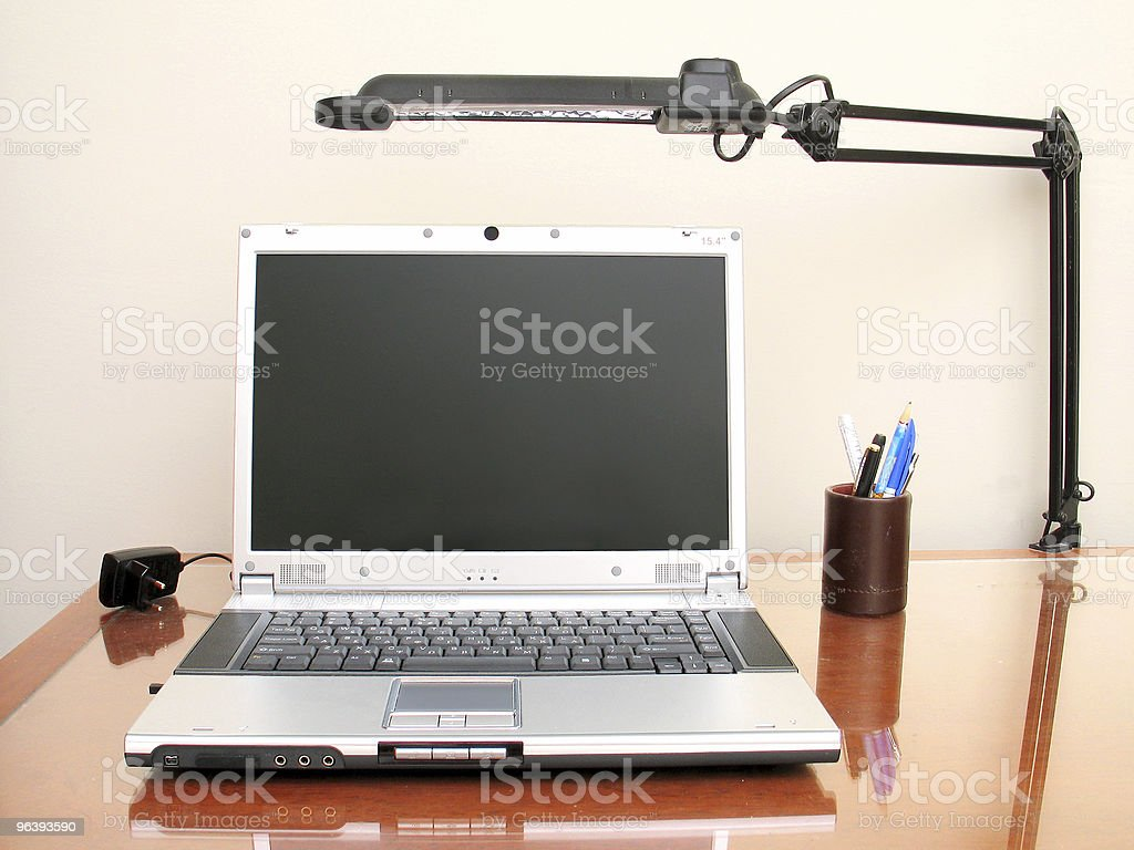 Desktop Set-Up royalty-free stock photo
