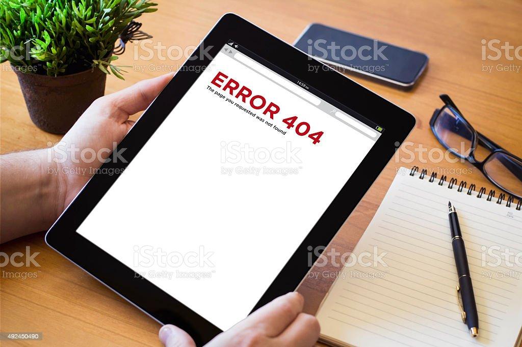desktop tablet error 404 stock photo