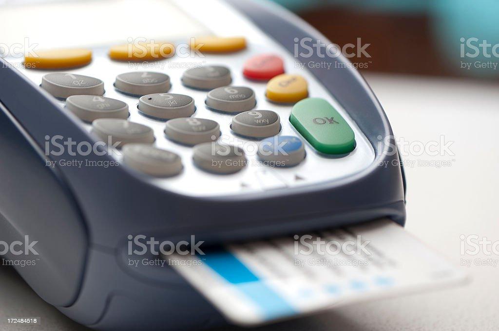 Desktop unit credit card reader royalty-free stock photo