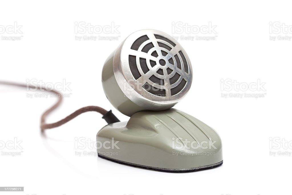 desktop vintage microphone royalty-free stock photo