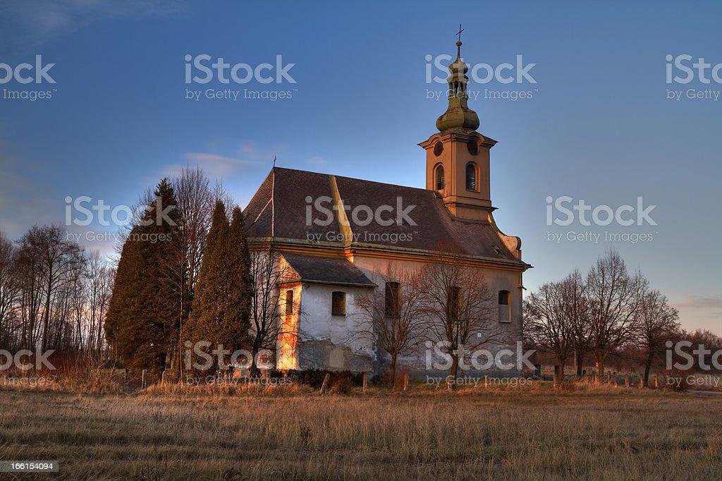 Desolate church royalty-free stock photo