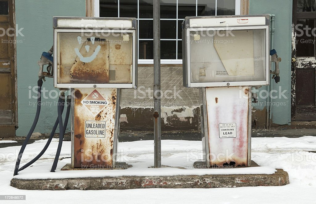 Desolated gas station royalty-free stock photo