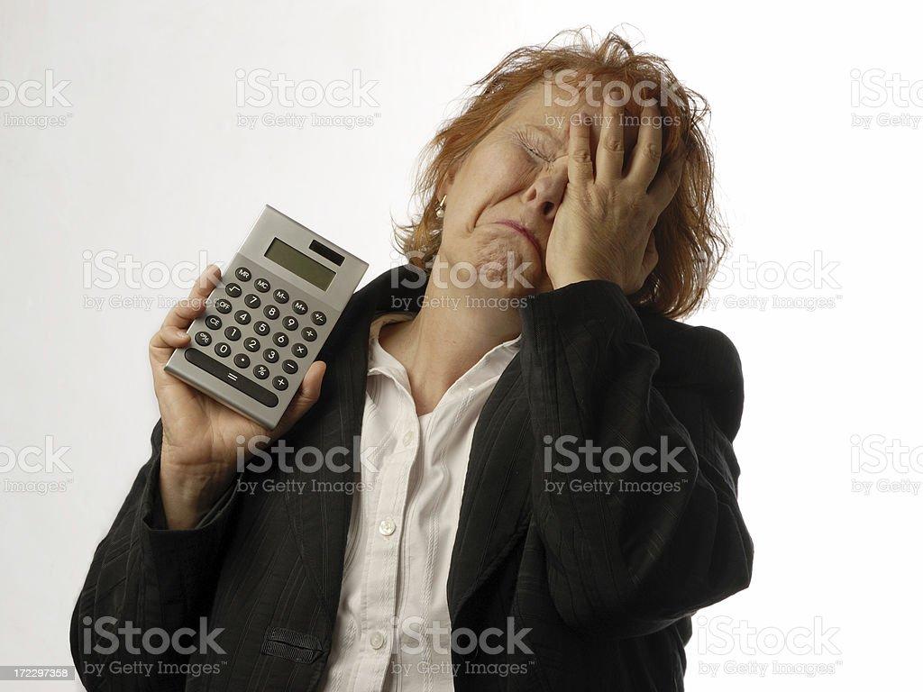 despair after balancing royalty-free stock photo