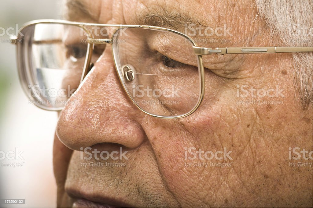 despair of lost retirement savings in the bear market royalty-free stock photo