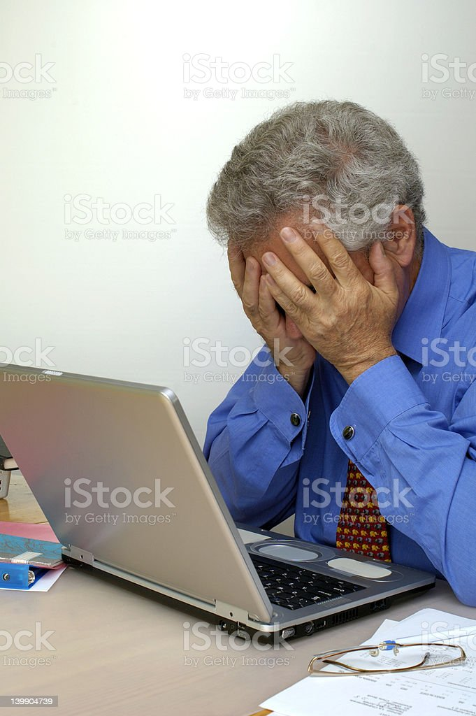 Despair royalty-free stock photo