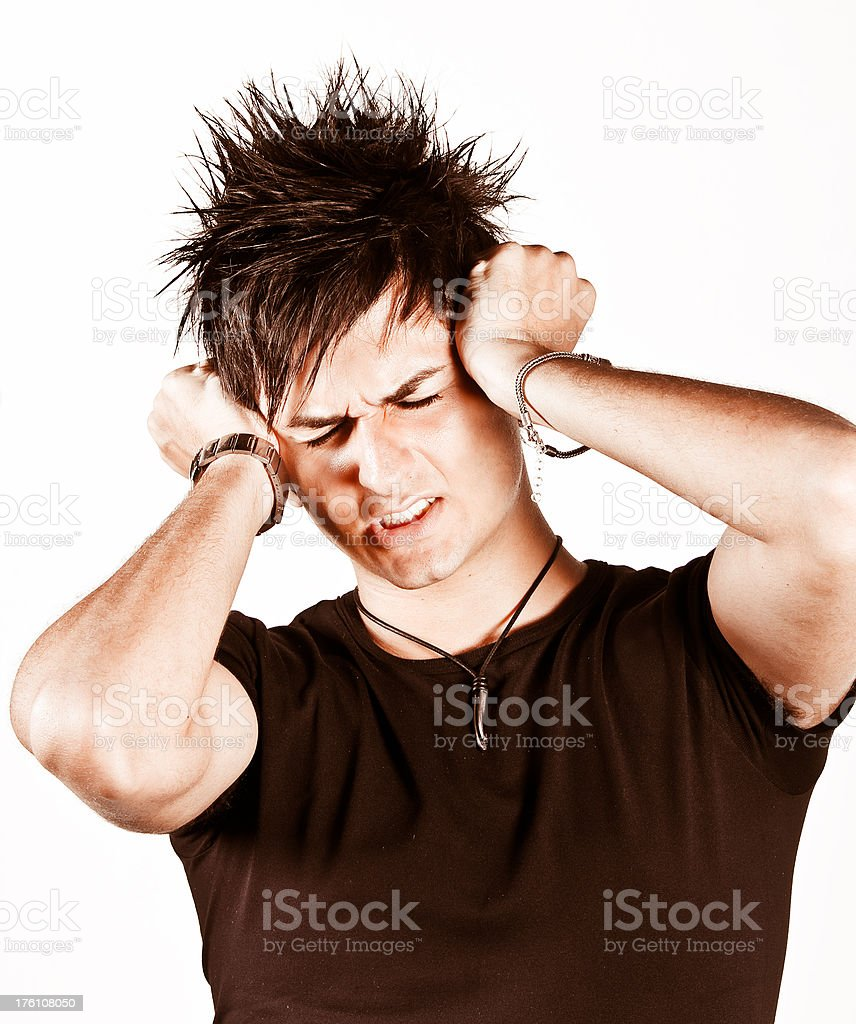 Desperate bad guy royalty-free stock photo