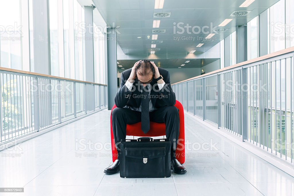 Desperate Business Man stock photo