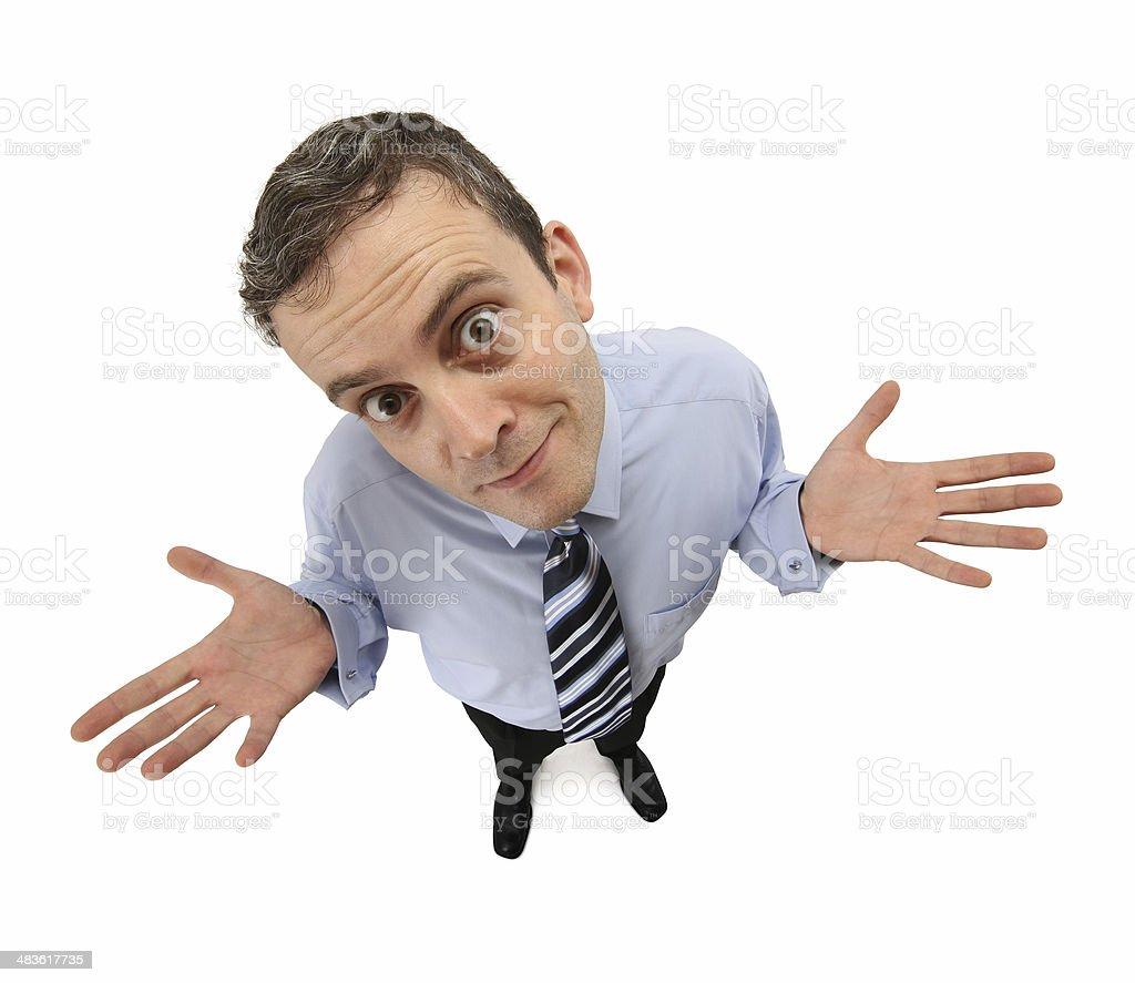 Desperate Businessman stock photo