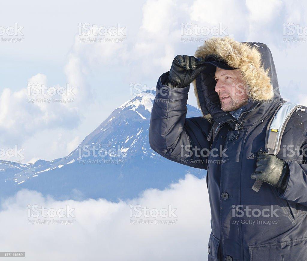 desperate climber stock photo