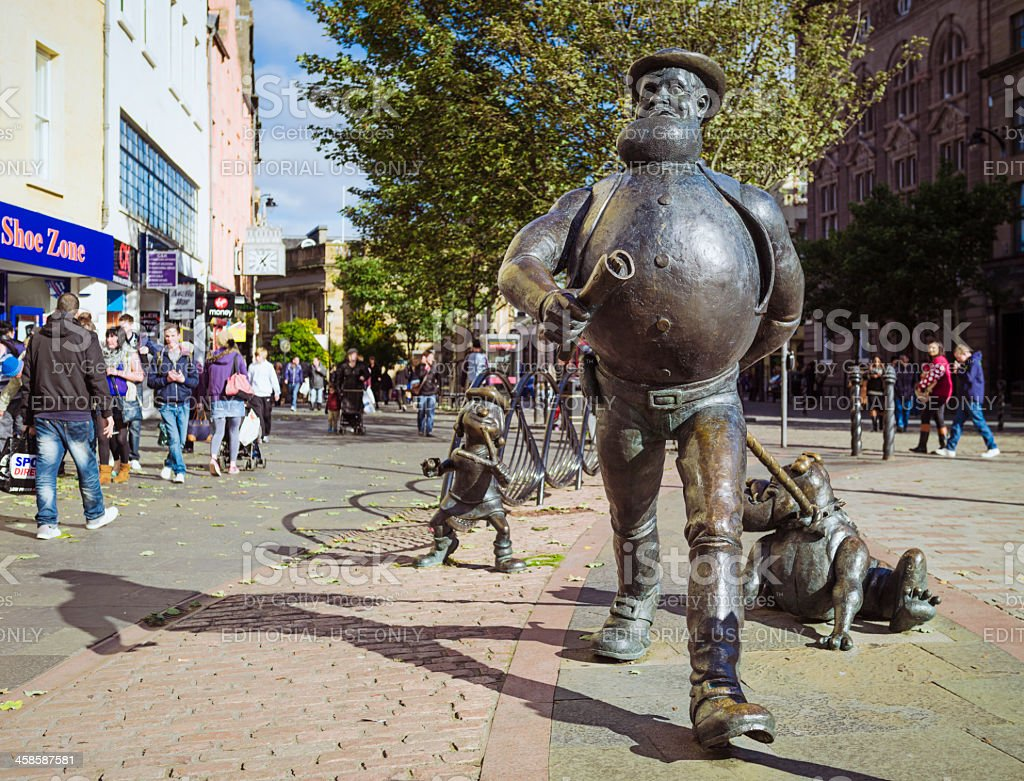 Desperate Dan in Dundee stock photo