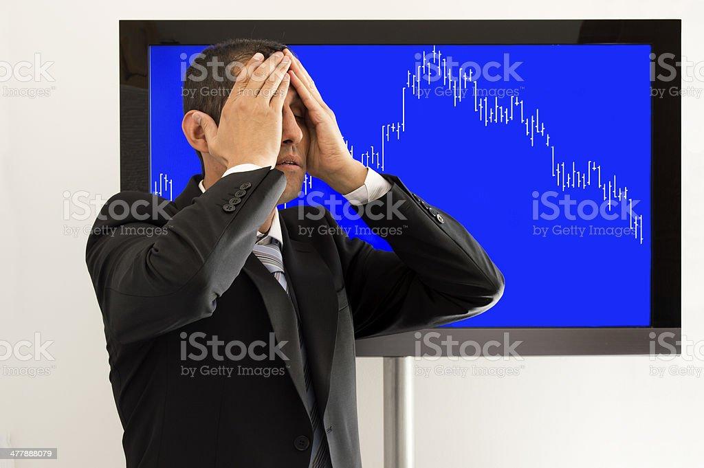 desperate economist royalty-free stock photo