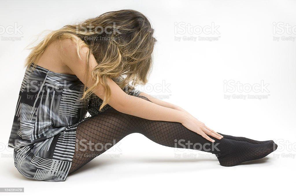 Desperate Girl stock photo