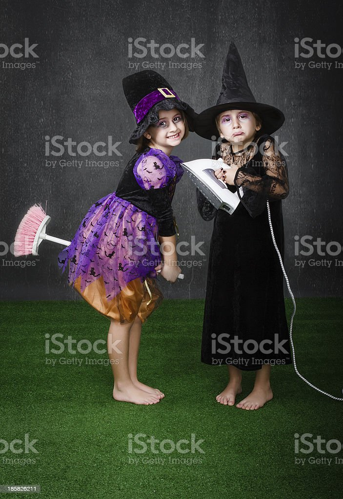 desperate housewife and magic witch royalty-free stock photo