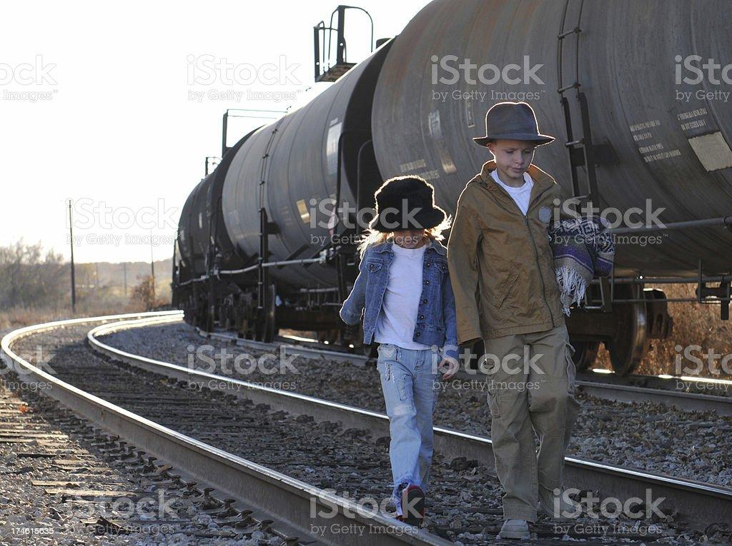 Desperate Journey royalty-free stock photo
