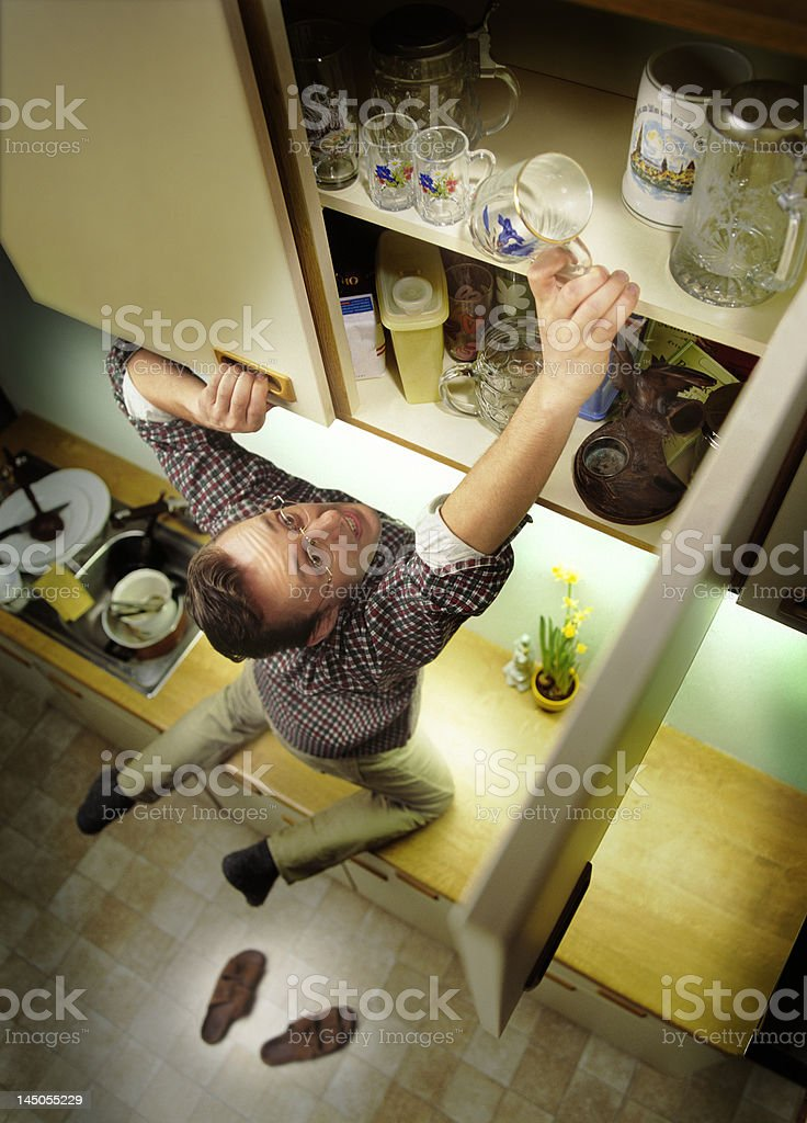 desperate man in kitchen royalty-free stock photo