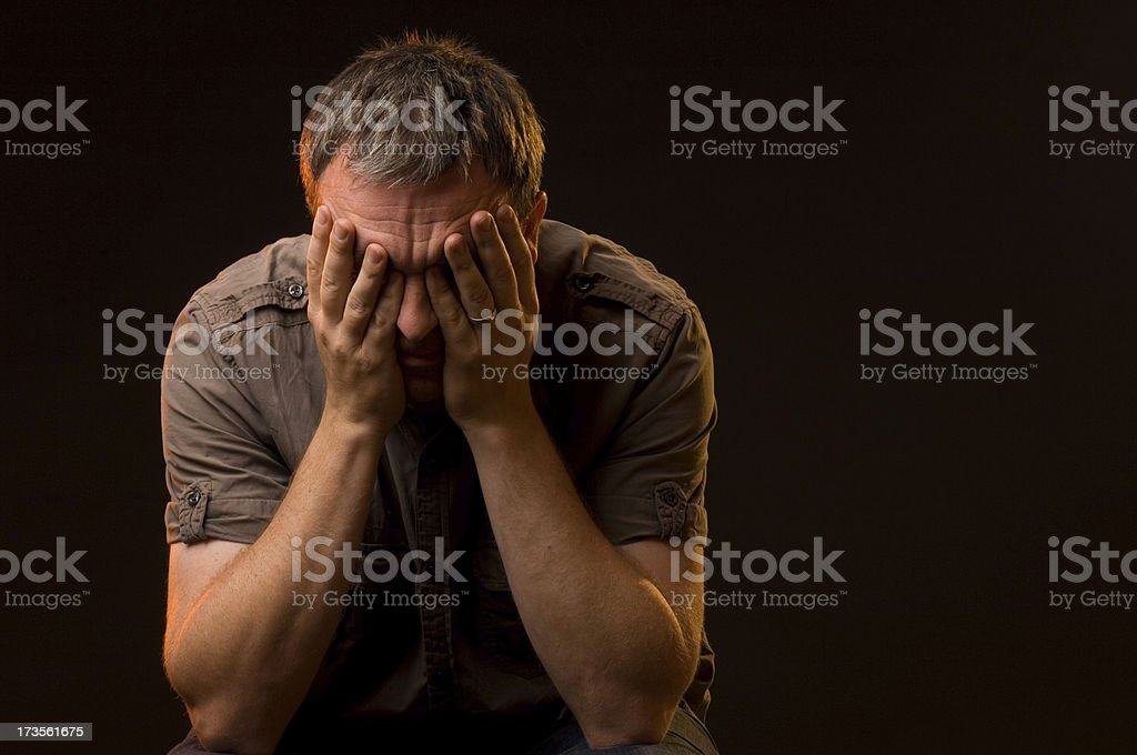 desperate man stock photo