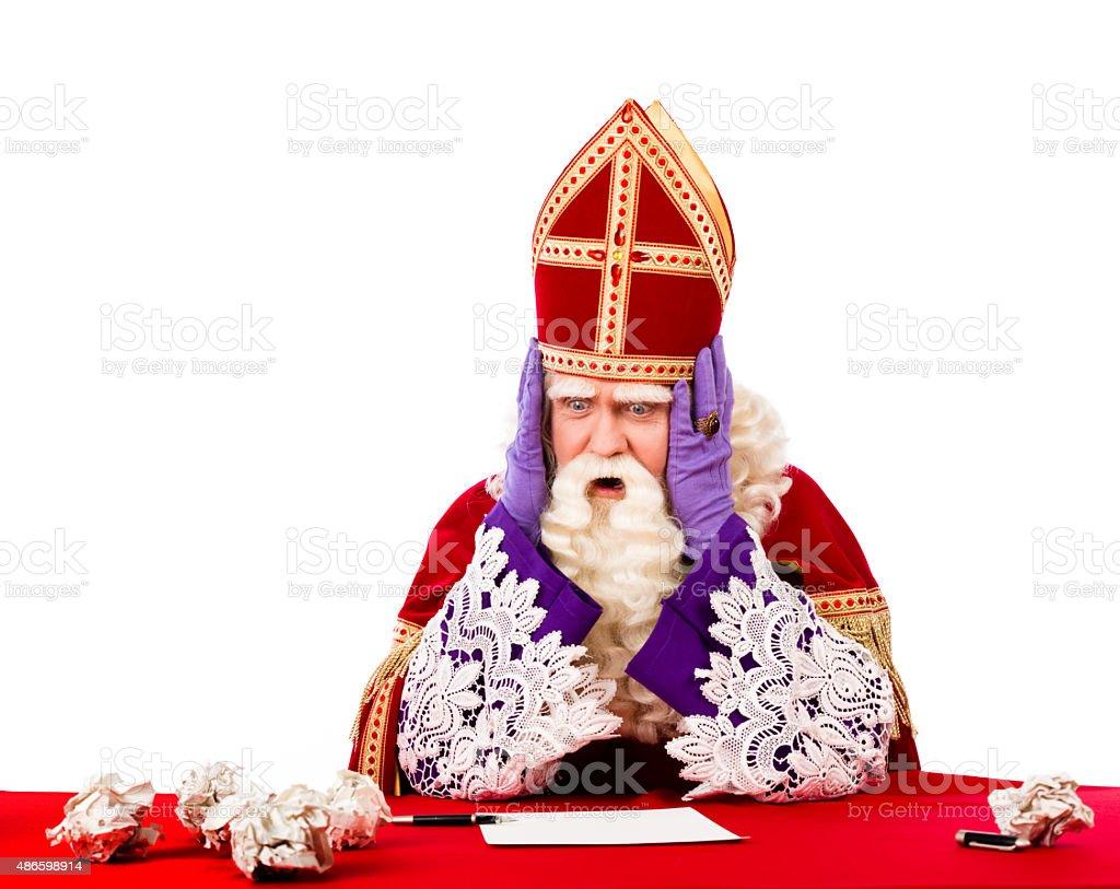 Desperate St.Nicholas stock photo