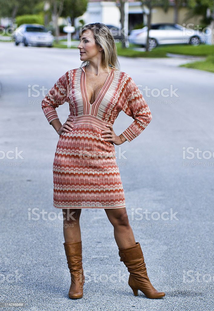 Desperate Stunning Housewife stock photo