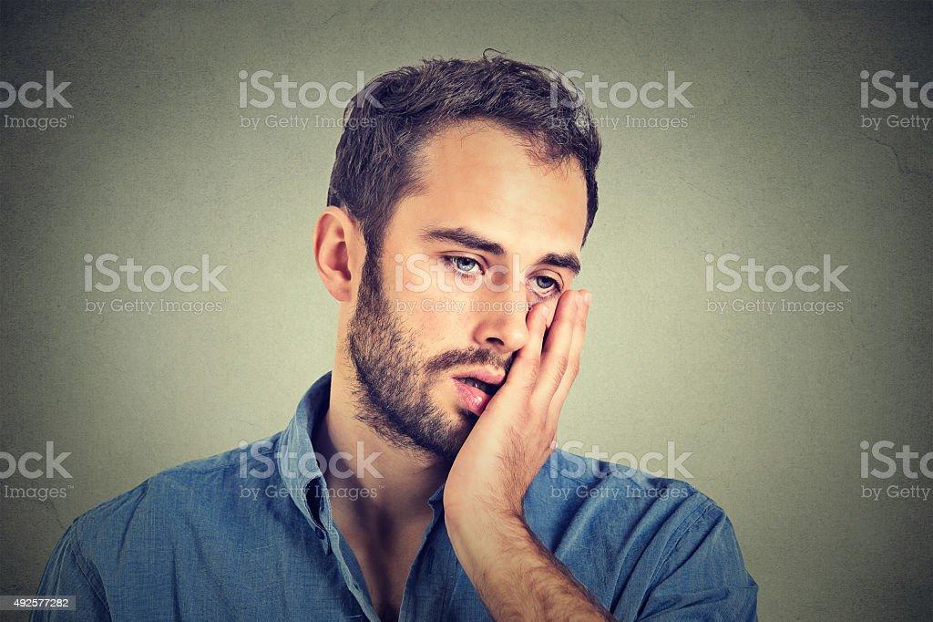 desperate unhappy man stock photo