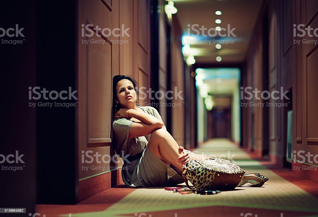 Desperate woman stock photo