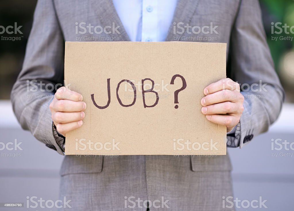 Desperation in 4 letters stock photo