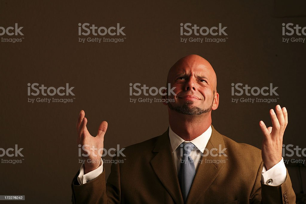 Desperation royalty-free stock photo