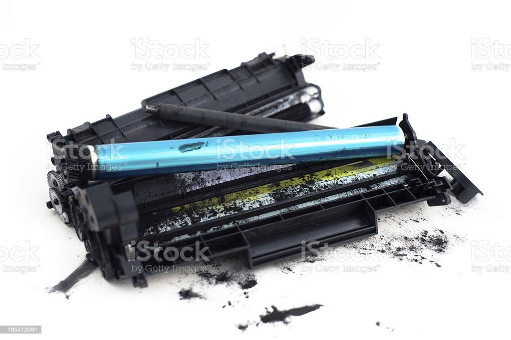 Dessambled Printer Toner Cartidges stock photo