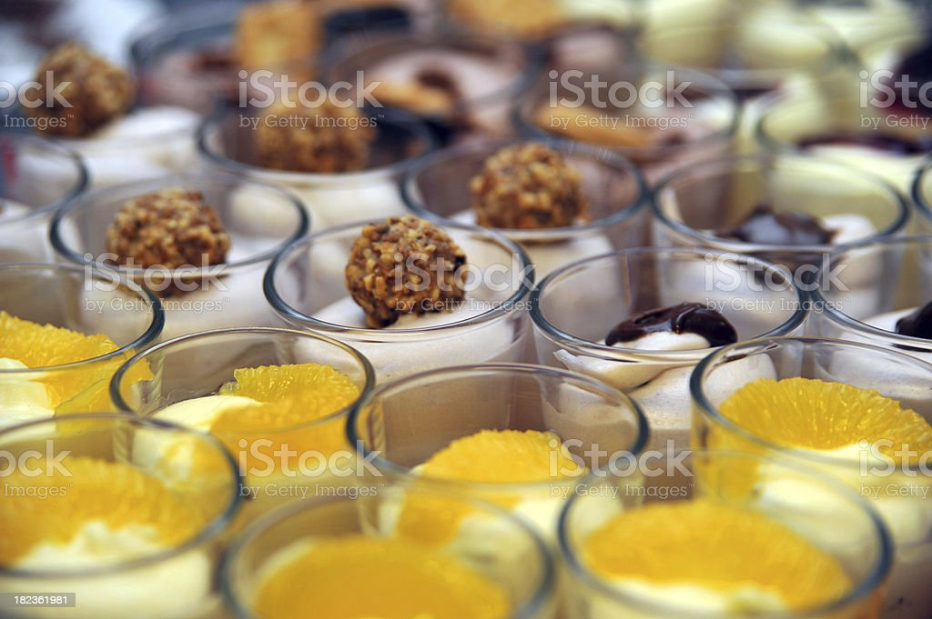 dessert cremes for buffet royalty-free stock photo