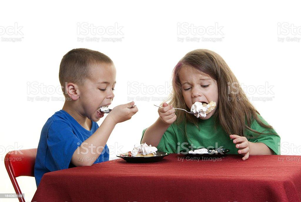 Dessert Eating royalty-free stock photo