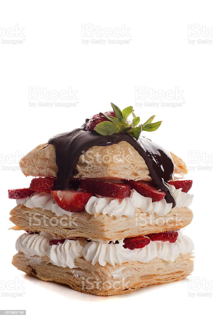 dessert food on white background royalty-free stock photo
