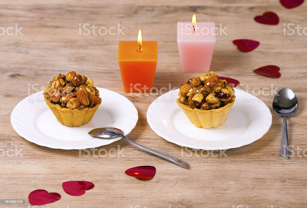 Dessert for two royalty-free stock photo
