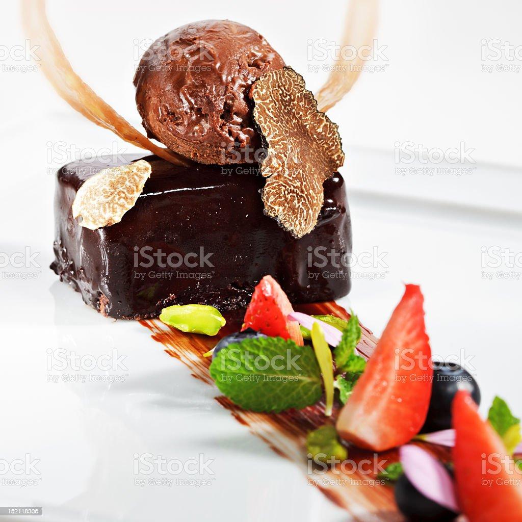 Dessert - Ganache royalty-free stock photo