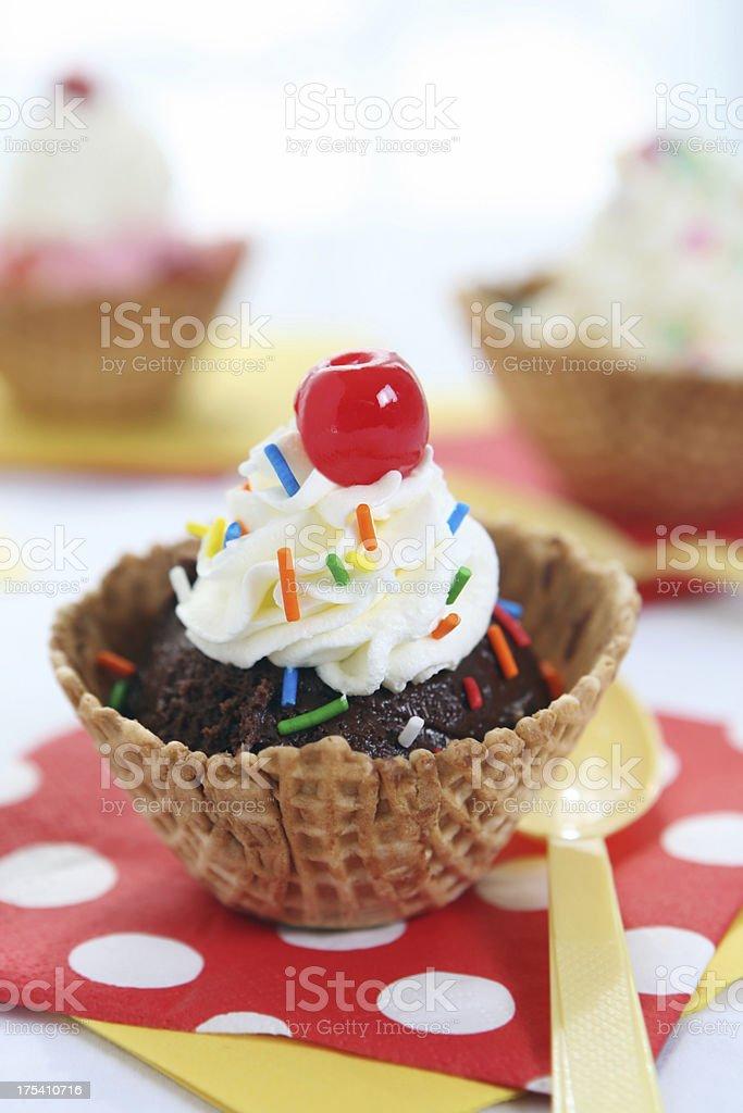 dessert - ice cream stock photo