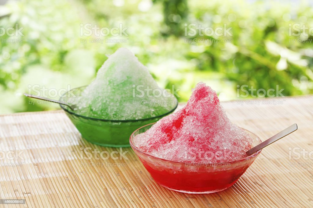 Dessert of summer in Japan stock photo