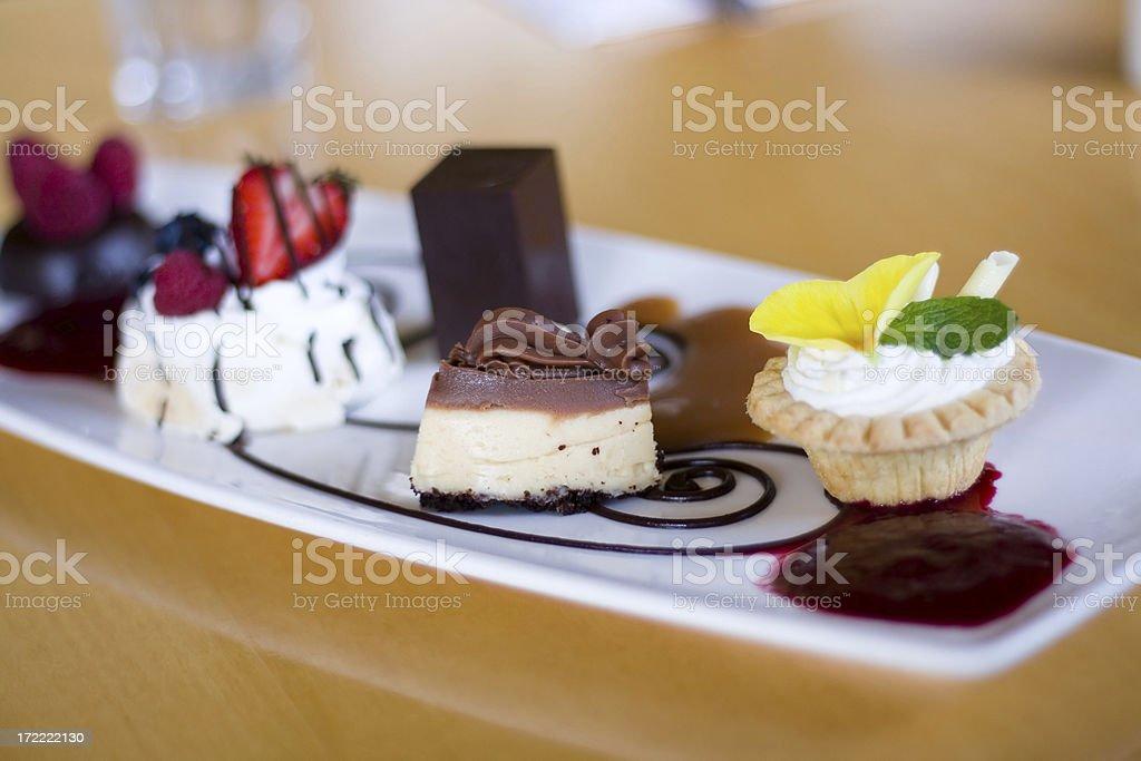 Dessert plate 5 stock photo