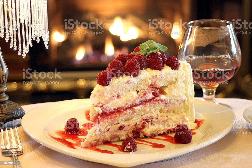 Dessert - Raspberry Cake royalty-free stock photo