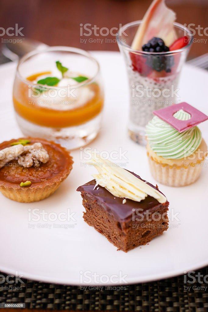Dessert Selection stock photo